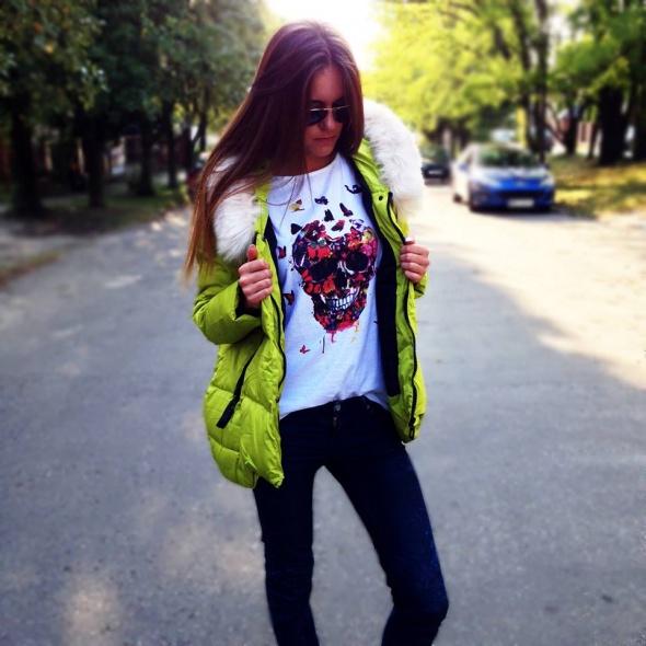 Codzienne Kurtka Limonkowa