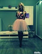 Tiulowa spódnica Smoriss top w kwiaty mohito...