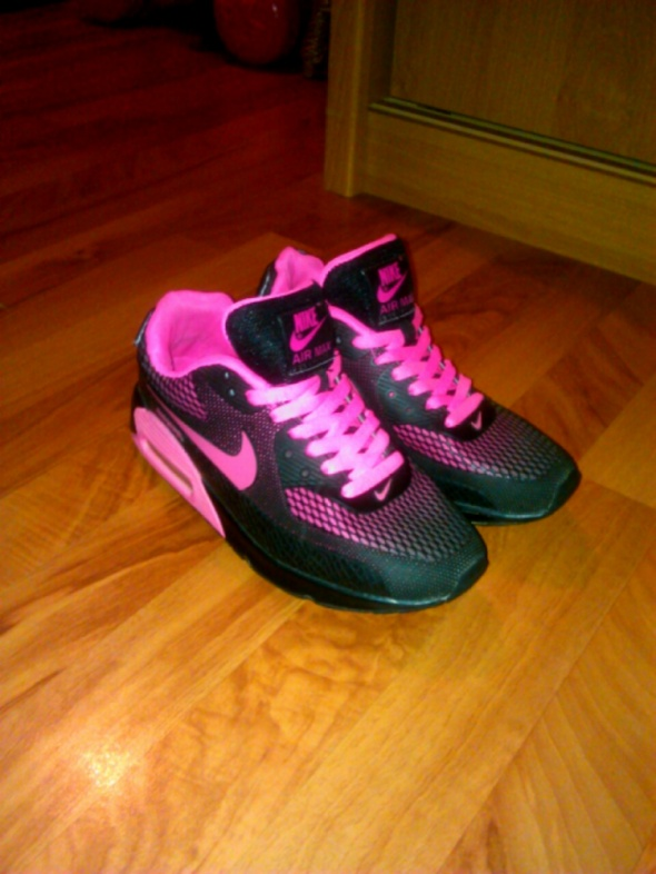 Nike AIR MAX 525761017 czarne czarno różowe 38 w Sportowe