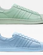 Adidas Originals Superstar błękitne lub miętowe