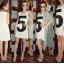 Sukienka 5 i długi kardigan