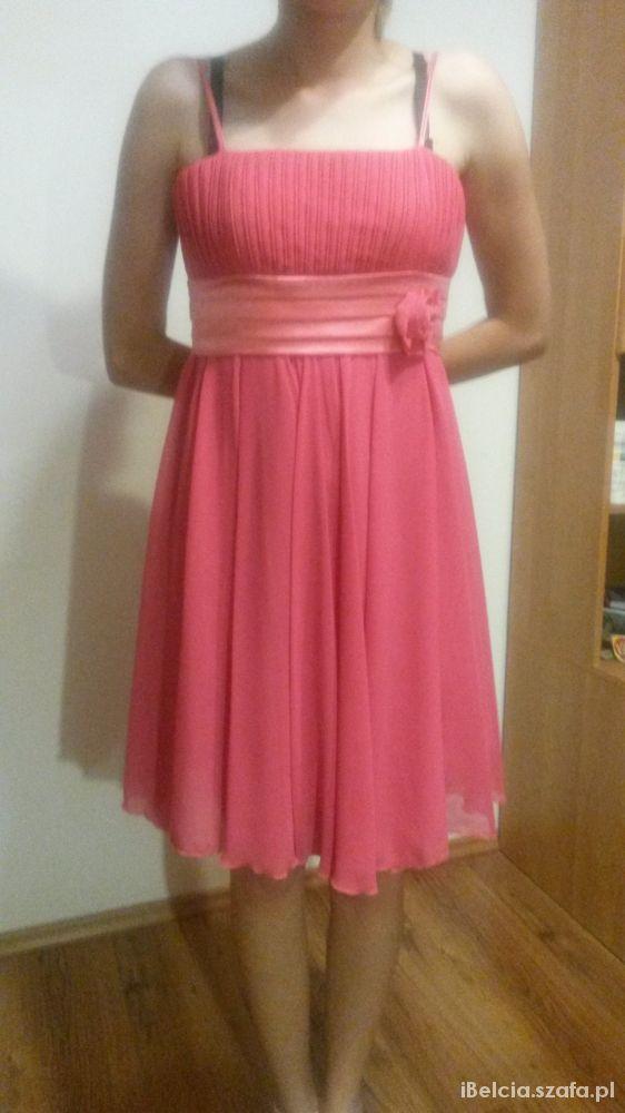 fcba2ecdd6 Malinowa różowa sukienka na wesele rozmiar 38 w Suknie i sukienki ...