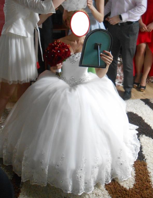 Suknia ślubna Ivory Księżniczka Brylanty Koronka W Suknie ślubne