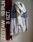 mega sweter burton i gratis dwa szaliki