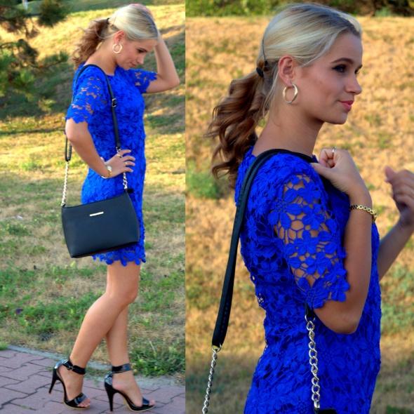 Blogerek Kobaltowa sukienka