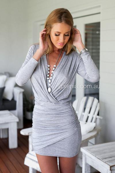 sukienki z długim rękawem XS S