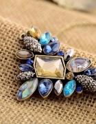 naszyjnik kamienie kolorowe