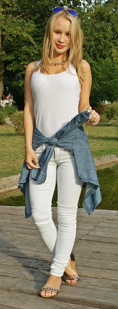 Blogerek White and jeans