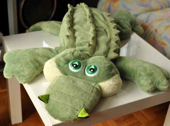 Zabawki Duży krokodyl maskotka przytulanka miekki zielony
