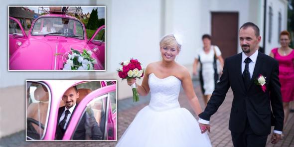 Romantyczne Ślubnie różowoooo