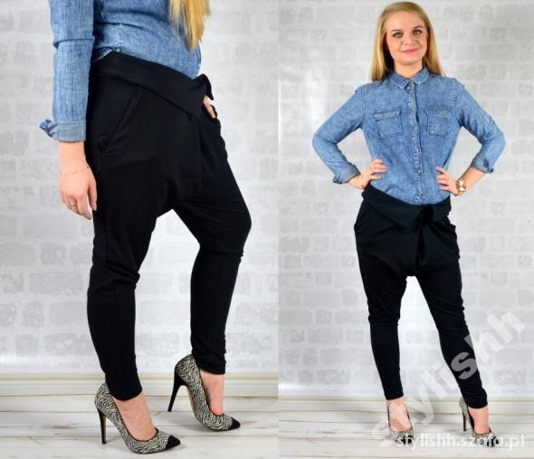 LUKSUSOWE haremki ZAKŁADKI sexy LUX spodnie M