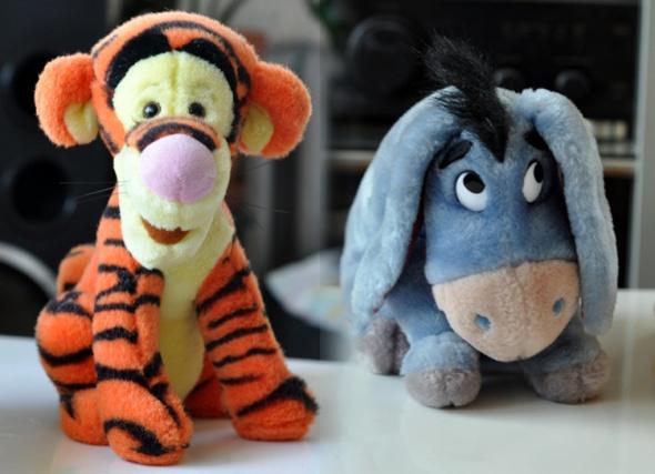 Zabawki Tygrysek i Kłapouchy kłapouszek tygrys osiołek