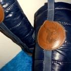 mega modne granatowe Bata 37 styl norweski