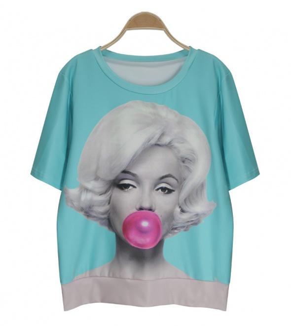 bluzka Marilyn Monroe z gumą balonową...