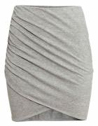 kopertowa spodnica drapowana hm