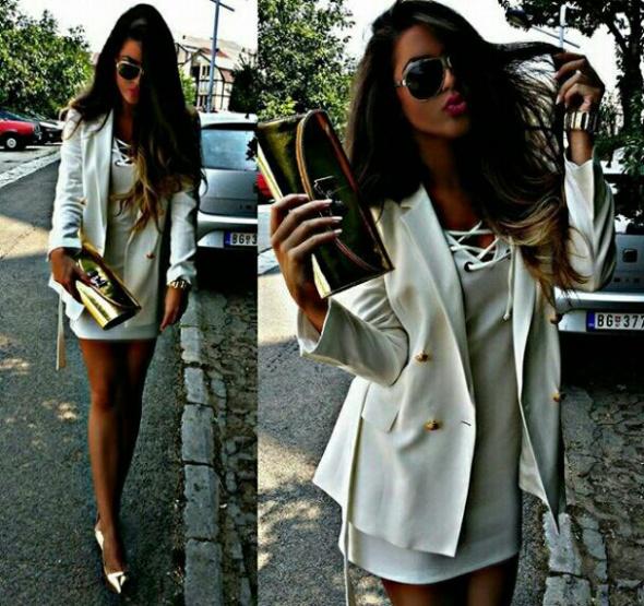 Eleganckie white &gold