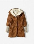 Parka kożuch płaszcz zimowy XL