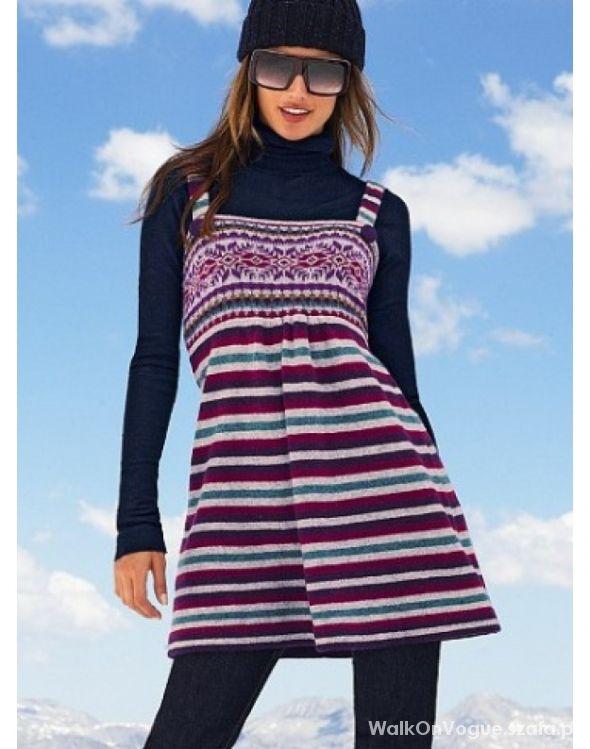64b2c159fd Wełniana TUNIKA Sukienka VICTORIA Secret XS 34 w Suknie i sukienki ...