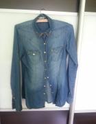 jeansowa koszula bershka
