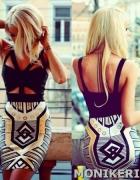 Sukienka azteckie wzory PUSH UP aztekie wzory S M