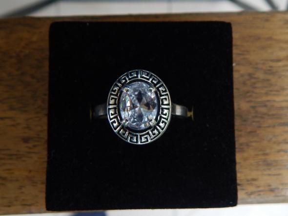 Pierścionki pierścionek z kryształem górskim