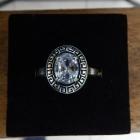 pierścionek z kryształem górskim