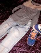 Jeansowe spodnie z dziurami...