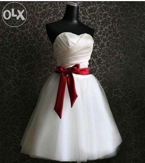 Sukienka ślub cywilny z kokardą...