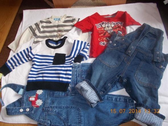 Komplety bluzki i spodnie zestaw ubrań na 6 9 miesięcy
