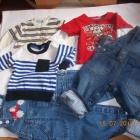 bluzki i spodnie zestaw ubrań na 6 9 miesięcy