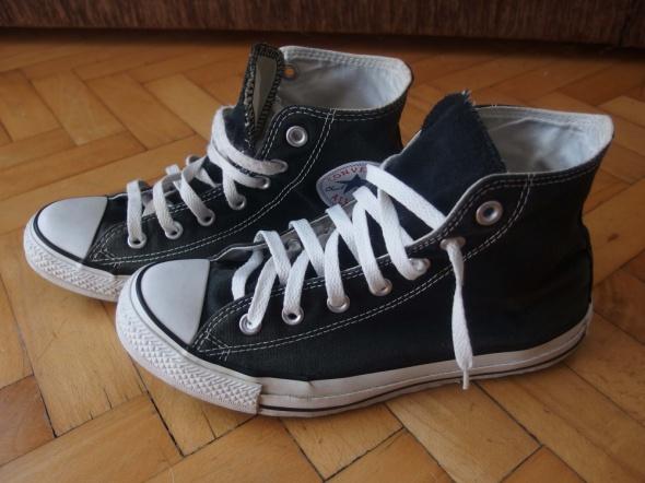Converse czarne po kostki rozmiar 39 w Trampki Szafa.pl