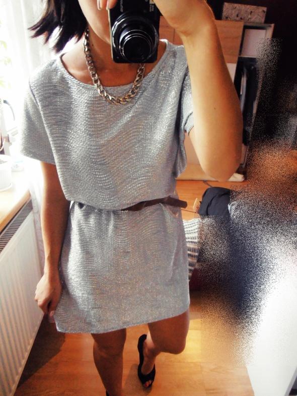 Mój styl metaliczna sukienka