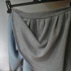 Szara spódnica rozkloszowana