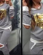 nowy dres złote serca rozm L