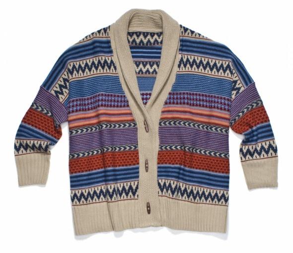 Ubrania Sweter kardigan etniczny boho azteckie wzory aztec