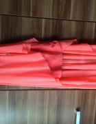 Asymetryczna sukienka mgiełka neon