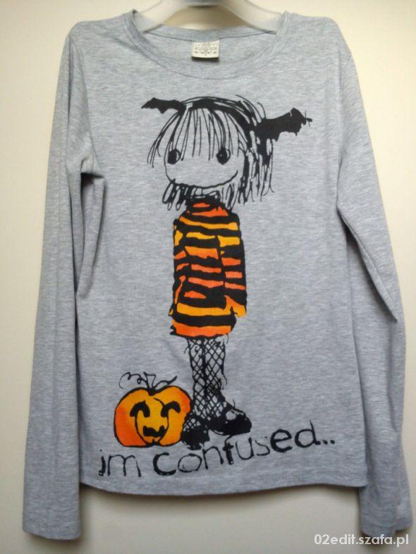 Bluzka halloween xs szara