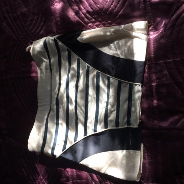 Spódnice Spódniczka niebiesko biała styl marynarski