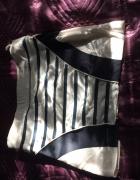 Spódniczka niebiesko biała styl marynarski