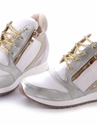 sneakersy na koturnie 36