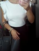 Elegancki kombinezon s m l czarno biały spodnium