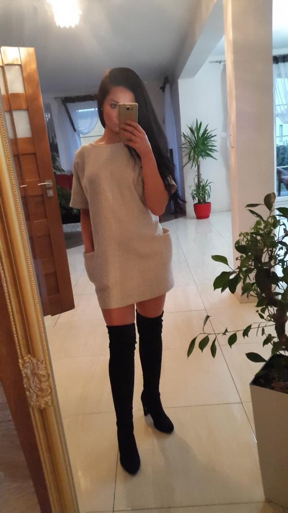 Codzienne sukienka siwa