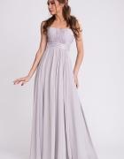 Wieczorowa srebrna suknia...
