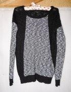 Sweter paski 42 oversize