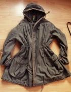 płaszcz parka khaki M L 38 40