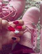 Różowe TIMBERLANDY...