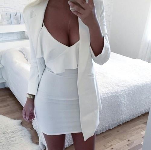 Eleganckie White dress