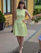 Limonkowa sukienka...