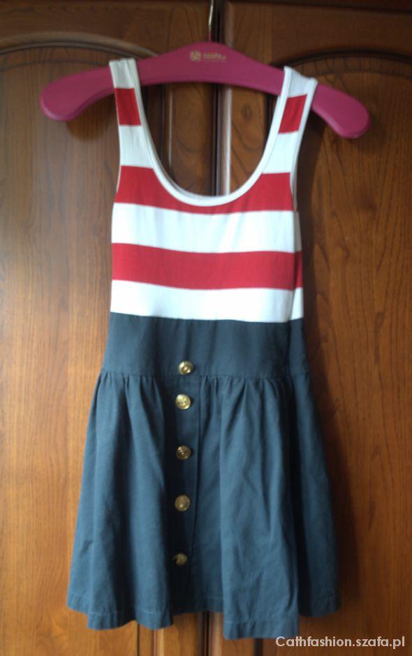 1b82b5e79 Marynarska sukienka COTTON CLUB rozm S w Suknie i sukienki - Szafa.pl