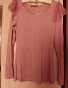 Nowa bluzka puder róż36 37 z łańcuszkiem złotym